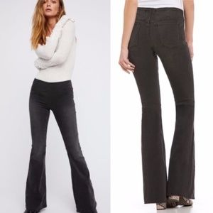 FREE PEOPLE | Gray Penny Flare Stretch Pull Jean